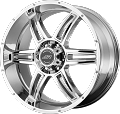 17 x 8 Chrome Aluminum AR890 Trailer Wheel, 5 one 4.50, 2200 lb Max Load