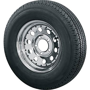St205 75d14 Bias Ply Trailer Tire With 5 Bolt Chrome