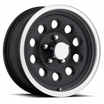 14 x 5.5 Matte Black Aluminum Trailer Wheel with Machined Lip, 5x4.50