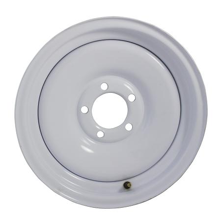 """13/"""" 5 Bolt White Steel Trailer Wheel Rim"""