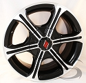 15x6 Black Machined Aluminum T05 Trailer Rim 6 Lug, 2830 lb Max Load