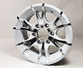 15x6 Viper White Machined Aluminum T07 Trailer Wheel 6x5.5 Lug, 2860 lb Max Load