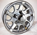 16x6 Hispec Series 8 Aluminum Trailer Rim 6x5.5 Bolt, 3200 lb Capacity