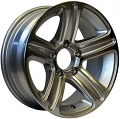16x6 Silver Machined T09 Trailer Wheel, 8 Lug, 3750 lb Max Load