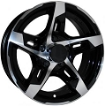 14x5.5 T10 Sendel Aluminum Trailer Wheel 5 on 4.50 Lug 1,900 lb Max Load