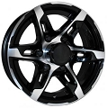 16x6 T10 Sendel Aluminum Trailer Wheel 6 on 5.50 Lug 3,200 lb Max Load