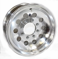 16x7 HD HiSpec Series 03 Aluminum Mod Trailer Wheel 8 Lug, 3960 lb Max Load, 12 Hole