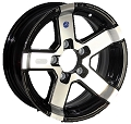 14x5.5 Series07 Aluminum Hi Spec Trailer Wheel 5 Lug, 1900 lb Max Load