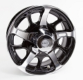 14x5.5 Hi Spec Series 08/Dark Force Aluminum Trailer Wheel with Center Cap 5x4.50 Lug, 1900 lb Max Load