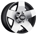 15x5 Phat Star Aluminum Trailer Wheel, 5 Lug, Center Cap Incl, 2150 lb Max Load