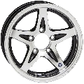14 x 5 Series 14 Hispec Black Aluminum Trailer Wheel 5 x 4.5 Bolt Pattern 1900 Lb Load Rating