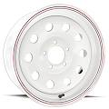 14x6 White Painted Modular Steel Trailer Wheel 5x4.50, 1870 lb Max Load