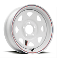 14x6 White Painted Steel Spoke Trailer Wheel 5x4.5  (2046012-33171)
