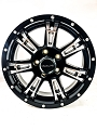 15x5 Arsenal 840 Matte Black Machined Aluminum Trailer Wheel 5x4.5