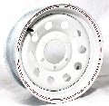 15x6 White Modular Trailer Wheel (10-Hole) 6 Lug, 2850 lb Max Load