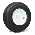 16.5x6.50-8 Tow-Master Trailer Tire LR C with 8 x 5.375 Solid White Trailer Wheel 4 on 4