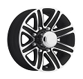 16x6 Black Machined T09 Trailer Wheel, 8 Lug, 3750 lb Max Load