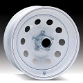 15x6 White Painted Steel Modular Trailer Wheel 5x5 Lug, 2600 lb Max Load