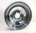 14x6 Chrome Blade Steel Trailer Wheel 5 on 4.5 Lug, 1870 lb Max Load by US Wheel