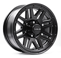 14x6 944B Outlander Black Aluminum Trailer Wheel 5x4.5