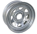 13x4.5 Galvanized Steel Spoke Trailer Wheel 5 Lug, 1660 lb Max Load