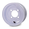 10x6 White Solid Trailer Wheel 4 Lug, 1330 lb Max Load