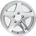 12x4 HiSpec Series 04 Aluminum Star Trailer Wheel 5 Lug, 1520 lb Max Load