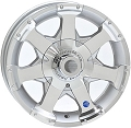 13x5 HiSpec Series 06 Aluminum Trailer Wheel Center Cap incl. 4 Lug, 1480 lb Max Load