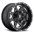 16 x 8 Black Fuel Boost Aluminum 5 x 4.50 Trailer Wheel 2,500 lb Capacity