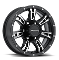 15 x 6 Arsenal 840 Matte Black Machined Aluminum Trailer Wheel 6 x 5.50