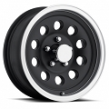 17 x 8 Matte Black Aluminum Modular Sendel Trailer Wheel,6 on 5.50, 2850 lb Max Load