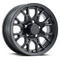 15x6 T16 Matte Black Aluminum Trailer Wheel 5x4.5 Bolt Circle