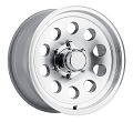 14x5.5 HiSpec Series 03 Aluminum Mod Trailer Wheel no Rivets 5 Lug, 1900 lb Max Load