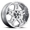 18x9 S37 Stealth Sendel  Aluminum  Wheel Polished with Clear Coat, 5x4.50 Lug, 2200 lb Capacity