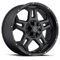 18x9 S37 Stealth Sendel Black Aluminum  Wheel (Matte Black Milled), 5x4.50 Lug, 2200 lb Capacity