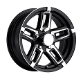 15 x 6 Black T06 Linkster Aluminum Trailer Wheel 5 on 4.50 Lug, 2,150 lb Max Load