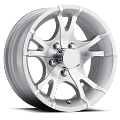 13x5.5 T07 Viper Silver Machined Aluminum Trailer Wheel 5x4.5 T07-35545SM