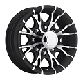 16x6 Black Machined Viper T07 Trailer Wheel, 8 Lug, 3750 Max Load
