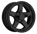 14x5.5 T08 Grinder Matte Black Trailer Wheel 5x4.5 2,200 Lb Capacity