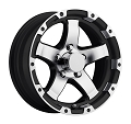 15x6 T08 Trailer Rim Black Machined Grinder, 5 Lug, 2150 lb Max Load