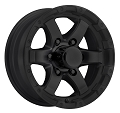 14x5.5 T08 Grinder Matte Black Trailer Wheel 5x4.5 2,200 LB MAX LOAD
