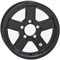 14x5.5 Black Series07 Aluminum Hi Spec Trailer Wheel 5 Lug,1900 lb Max Load