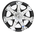 16x7 HiSpec Black Series 06 Aluminum Trailer Wheel 6x5.5, 3200 lb Max Load