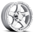 17 x 8 Silver  Aluminum Sendel T08 Trailer Wheel, 6 on 5.50, 2,850 lb Max Load