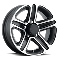 14 x 5.5 Sendel T09 Matte Black Machined Aluminum Trailer Wheel 5x4.5 Lug