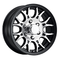 15x6 T16 Matte Black Machined Aluminum Sendel Trailer Wheel 6x5.50