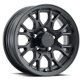 14x5.5 T16 Matte Black Aluminum Trailer Wheel 5x4.5