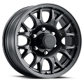 16x6.5 T16 Matte Black Aluminum Trailer Wheel 6x5.50