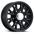 16x6.5 T16 Matte Black Aluminum Trailer Wheel 8x6.5