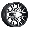 16x6.5 Sendel T16 Matte Black Machined Trailer Wheel 8x6.5